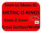 METRIC RUBBER O RINGS ALL SIZES PAINTBALL 15mm 2mm 25