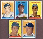 2008 TOPPS NATIONAL CONVENTION 1958 RETRO 2 SETS MICKEY MANTLE TED WILLIAMS