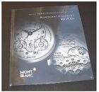 Montblanc Movement MB R100 Watch Brochure CATALOGUE HARDCOVER SEALED NEW