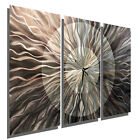 Large Silver Metal Wall Clock Contemporary Wall Art Sculpture by Jon Allen