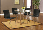 Kings Brand Chrome Finish With Glass Top Dining Room Kitchen Table & 4 Chairs ~