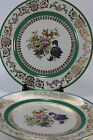 Chateau China Spring Flower Jade Green Gilt Dinner Cabinet Plates Charger Pretty