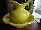 McCoy Pottery Bright Yellow Pitcher and Basin