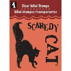 Inkadinkado HAPPY HALLOWEEN black CATs CLEAR ACRYLIC RUBBER STAMPs NEW 99475