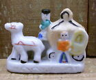 Horse Drawn Carriage - Miniature - Porcelain - Japan - Antique - Collectors