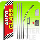 AUTO GLASS Swooper Flag KIT Feather Banner Sign 15 Tall Flutter Style rb