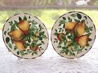 2 Sakura Oneida Sonoma Excell Pears Salad Plates Excellent New-Condition