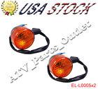2pcs Turn Signal Light 50cc 150cc Moped Scooter Rear GY6 12V Motorcycle Chinese