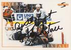 Ron Hextall Signed 95 96 Score Card #195