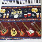 ROCK & ROLL  INSTRUMENT 1YARD QUILT CRAFTS UPHOLSTERY FABRIC 100%COTTON