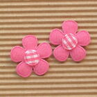 US SELLER 60 x 1 HPink Padded Felt Spring Flower Appliques w Gingham ST560H