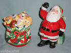 Fitz & Floyd Santa & Toy Bag Remembering Santa Christmas Salt & Pepper Shakers