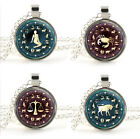 Silver Zodiac Necklace Pendant - Star Sign Jewellery - Personalised Xmas Gift