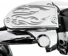 Baron Custom Accessories Master Cylinder Cover - Flame - Chrome BA-7629-03