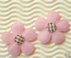 FAST SHIPPING 60 x 15 Padded Felt Flower Appliques w Gingham for Bow ST325LP