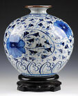 Wonderful perfect blue and white porcelain vase Guanyao manufacturing only one