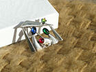 MINT SILPADA 925 Sterling Silver JEWELED NATIVITY SCENE PIN BROOCH I0677