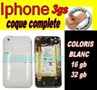 Faade coque iphone 3gs blanc Noir complete + ...