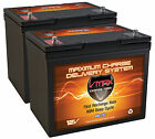 QTY2 VMAX MR107 12V AGM DEEP CYCLE BATTERY IDEAL FOR 24V 30-80lb TROLLING MOTOR