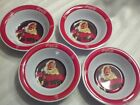 Lot of 4 Coca Cola Gibson Santa Claus Christmas Melamine Bowls NEW Coke Bottle