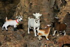 Retired Schleich Goat Figurines Nativity Scene Set 4 Pesebre Animal Cabras