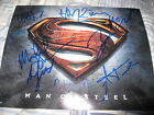 SUPERMAN MAN OF STEEL CAST SIGNED 8x10 POSTER PHOTO HENRY CAVILL IN PERSON COA D