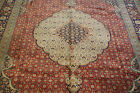 c1930s ANTIQUE VERY FINE PERSIAN TABRIZ RUG 6.6x9.7 DETAILED MAHEE FISH DESIGN