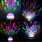 Voice activated Crystal Rotating RGB LED Party Disco Stage Light Bulb w Charger