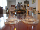 1992 Louis Comfort Tiffany Collection Tiffany  Co Crystal Pair Candle Holders