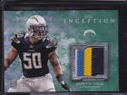 2013 Topps Inception Rookie Relics Patch Green Manti Te'o Teo Jersey 23 75