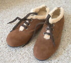 Suede like brown shoes with fur from Japan Sneaker Flat Ladys ACQUA CALDA 8