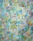 NEW CONTEMPORARY ABSTRACT RAINBOW MODERN ART OIL PAINTING ON CANVAS SIGNED