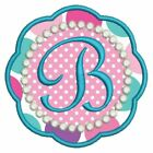 Applique Girly Monogram Fonts Alphabet Machine Embroidery Design CD 4x4 Hoop