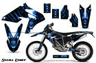 BMW G450X 2010 2011 GRAPHICS KIT CREATORX DECALS STICKERS SKULL CHIEF BLUE NP