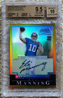 2004 BOWMAN CHROME GOLD REFRACTOR AUTO 50 ELI MANNING RC BGS 9.5..CARDREGISTRY