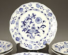 6pc Meissen Dinner Plates Blue Onion Pattern, Blue floral on White, Hand Painted