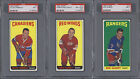 9 TOPPS OPC O-PEE-CHEE PSA GRADED HOCKEY CARDS 1964-65 1968-69