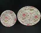 Johnson Brothers ROSE CHINTZ  Vegetable Bowl & Oval Platter- Red Mark- England