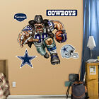 Dallas Cowboys NFL Cartoon Fathead - Crusher Cowboy or Grinding it Out Mural