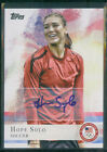 2012 Topps Olympic Hopefuls Hope Solo Autograph USA Womens Soccer