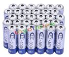 30x AA 3000mAh 2A 1.2 V Ni-MH Rechargeable Battery BTY Cell for MP3 RC Toys