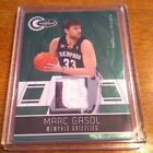 2010-11 Marc Gasol Totally Certified Green Emerald Patch 5 5