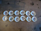 Vintage Set of 12 Carl Schumann Bavaria Arzberg Germany Porcelain Plates w Birds