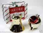 HOUSE OF LLOYD SALT AND PEPPER SHAKER SET HOLIDAY ORNAMENTS BELL BALL CHRISTMAS