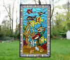 205 x 3475 Fish under the Sea Handcrafted stained glass window panel