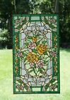 20 x 34Rose Flower Handcrafted stained glass window panel