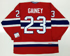 BOB GAINEY SIGNED MONTREAL CANADIENS CCM JERSEY PSA DNA COA