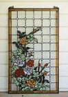 20 x 34 Large Handcrafted stained glass window panel Rose Flower