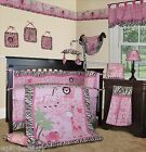 Baby Boutique - Pink Safari - 15 pcs Girl Nursery Crib Bedding Set