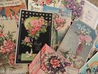 Lot of 10  Vintage General GREETING Die Cuts for Crafts FREE SHIP G1